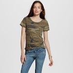 Women's Short Sleeve Camo Print Graphic T-Shirt - Zoe+Liv (Juniors') Green