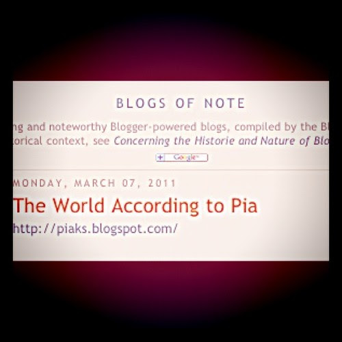 march 7, 2011 - blog of note
