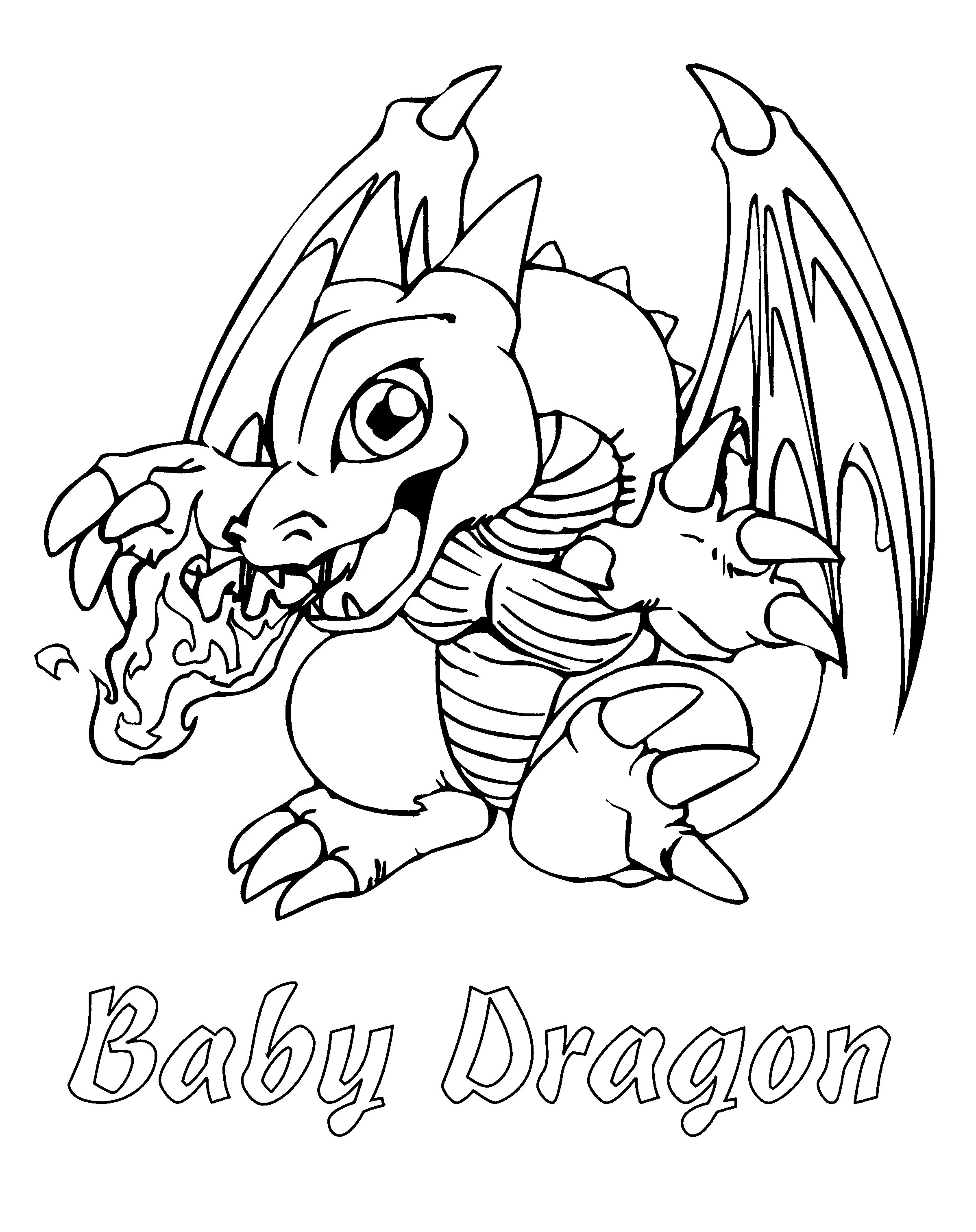 Free Printable Dragon Coloring Pages For Kids Coloring Pages