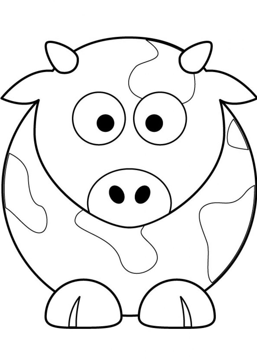 Cute Printable Coloring Pages Animals - Coloring Home