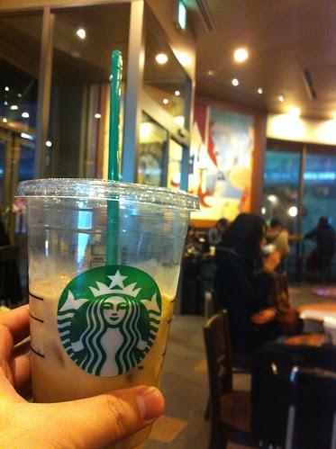 Having some coffee before I leave Kanazawa