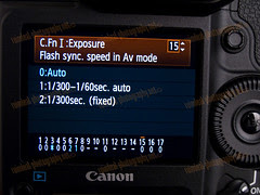 1D MarkIV C.FnI Flash Sync Speed in Av Mode