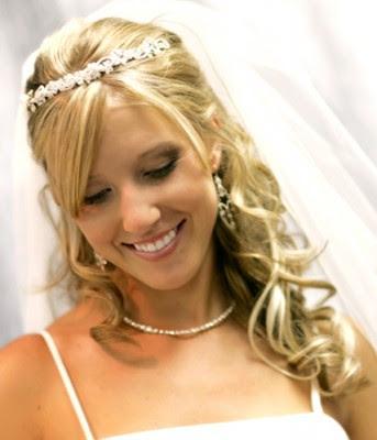 Please show me your halfupdos wedding hair half updo Tiara Bridal