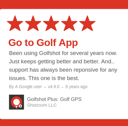 ★★★★★ Golfshot Plus: Golf GPS review on Google Play