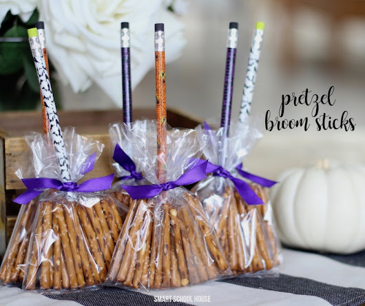 Halloween Pretzel Broom Sticks - Smart School House