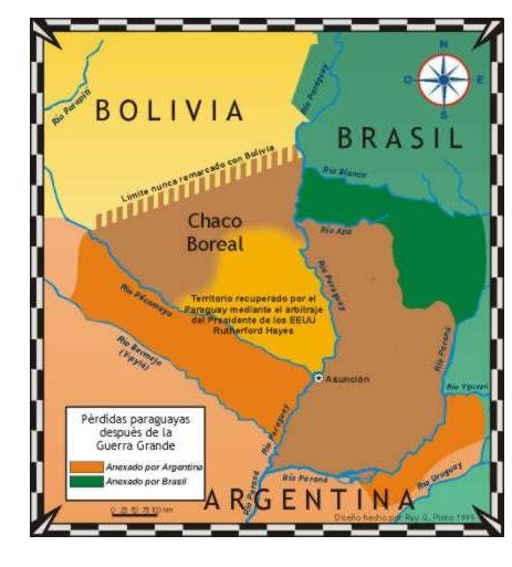 mapa de la guerra del Paraguay