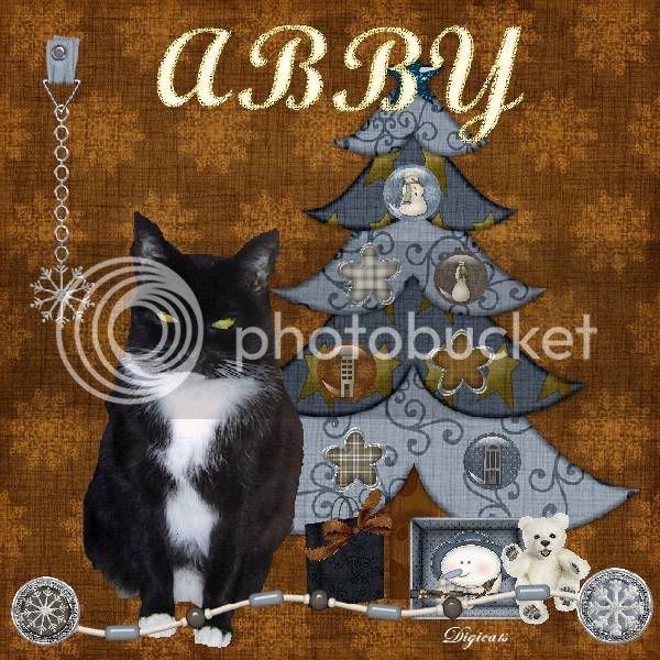 A Holly Daze tag for Abby