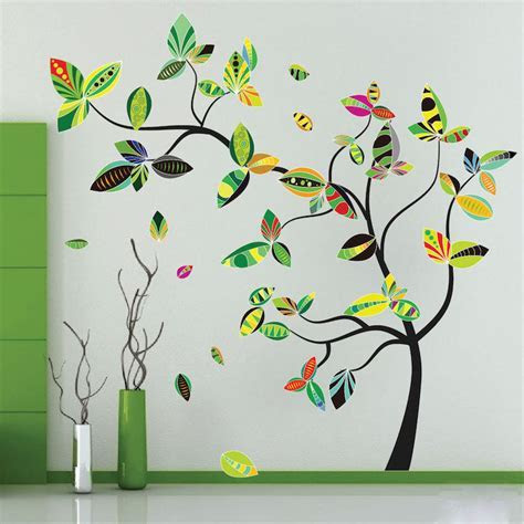 Abstract Tree Wall Decal   Tree Wall Decal Murals