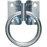 "National Hardware N220-616 Hitching Ring With Plate, 1-3/4"" X 2-1/4"", Zinc Plated"