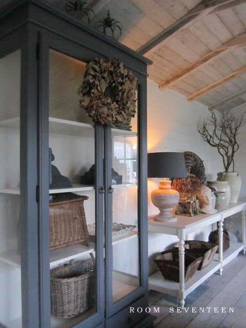 grey painted cabinet