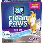 Fresh Step Clean Paws Cat Litter, Clumping, Multi-Cat - 22.5 lb