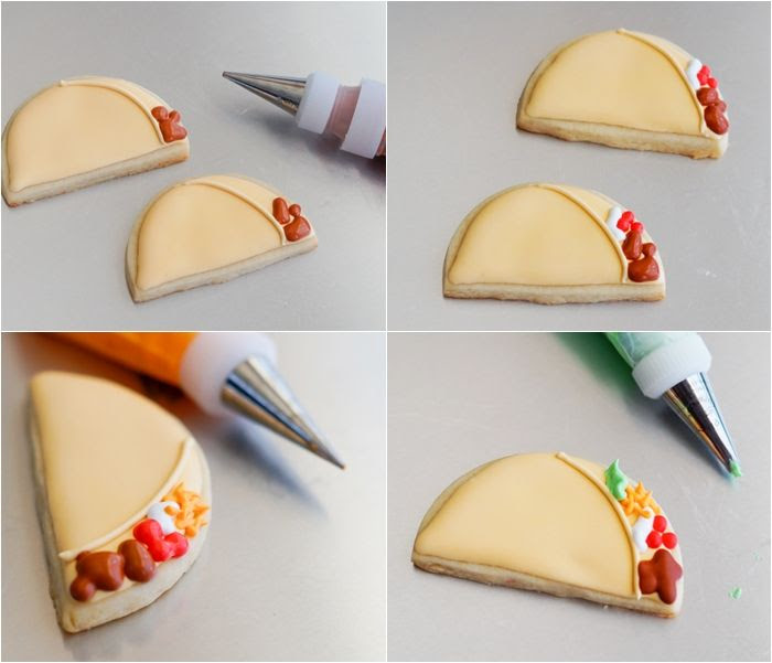 taco 'bout a fun cookie tutorial from bakeat350.blogspot.com