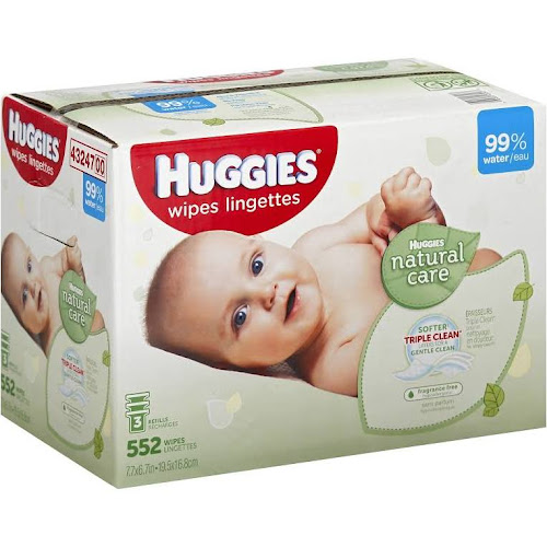 Huggies Natural Care Baby Wipes, Unscented Refills - 552 count