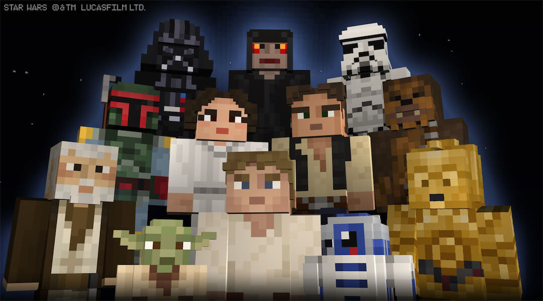 Minecraft Star Wars Skin Packs for Playstation | Anakin And His Angel