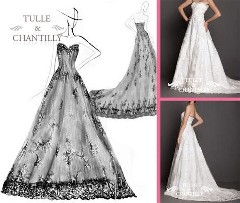 wedding dress sketches   Tulle & Chantilly Wedding Blog