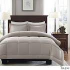 Madison Park - Sarasota Microcell Down Alternative Comforter Mini Set - Taupe - Twin