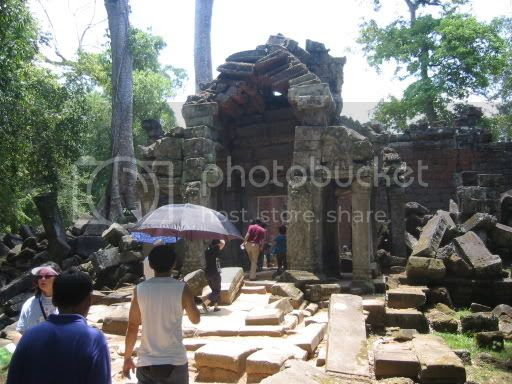Entering into Ta Prohm