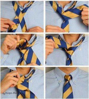 как завязать галстук