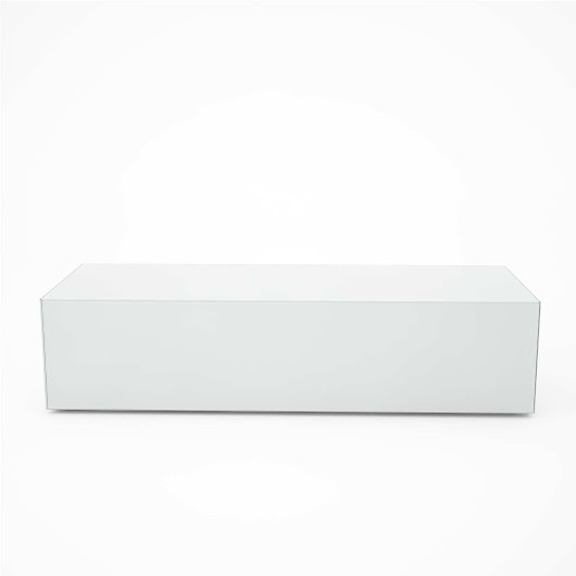 White Glass Coffee Table – Rectangular