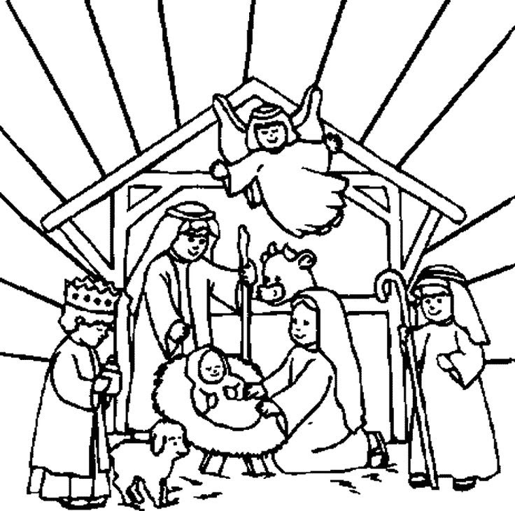 7500 Christmas Nativity Coloring Pages To Print , Free HD Download