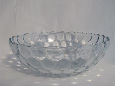 vintage sapphire blue depression glass, Hocking bubble ...