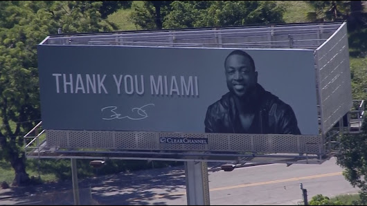 Dwyane Wade billboard: 'THANK YOU MIAMI'