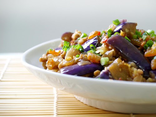 Eggplant with Mince