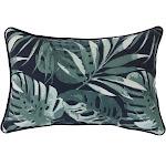 Outdoor Decor Navy Palm Decorative Outdoor Lumbar Pillow