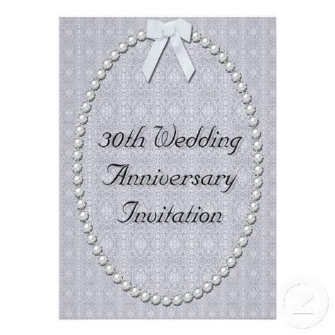 30th Wedding Anniversary Invitation   Zazzle.com in 2019