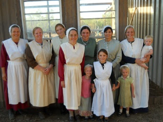 Ranchfest Ladies in Their New Amish Clothing