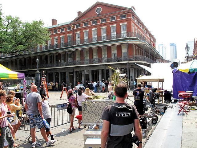 they were shooting Nicolas Cages' new vampire movie in the French Quarter