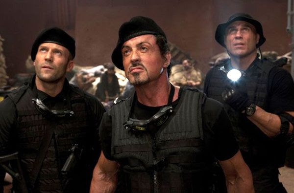 Jason Statham, Sylvester Stallone and Randy Couture take on Somali pirates at the beginning of THE EXPENDABLES.