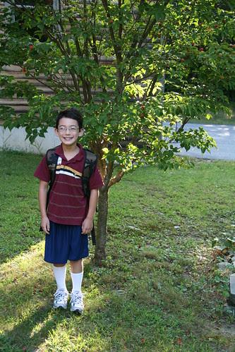 Adam's first day of second grade
