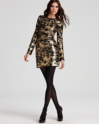 ADAM Foil Printed Sequin Dress
