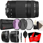 Canon EF 75-300mm f/4-5.6 III Lens + 58mm Filter Kit + Telephoto & Wid