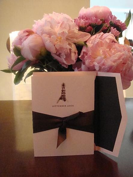 Pink & Brown Wedding Invitation