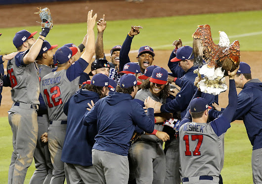 U.S. routs Puerto Rico, 8-0, to win World Baseball Classic
