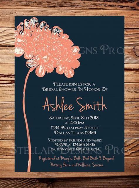 Bridal Shower Invitation,Flower Bridal Or Wedding Shower