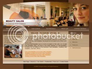 Free CSS Brown Beauty Makeup Salon Template