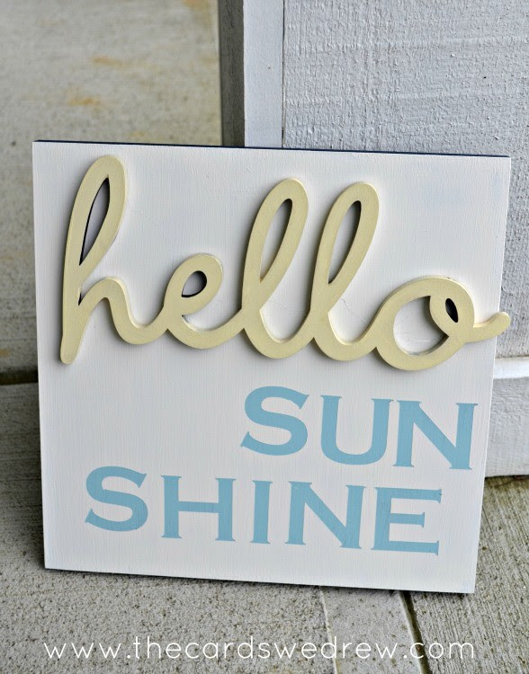 hello sun shine sign