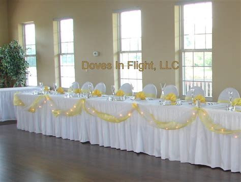 tulle table runner   Hawk Hollow Head Table, Bright Yellow