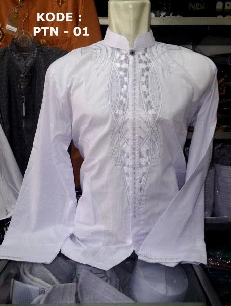 Baju Koko Putih Panjang Bordir BusanaMuslimPria Com