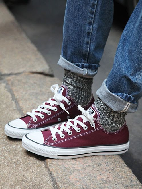 Converse Distressed Low Top Chucks at Free People Clothing Boutique