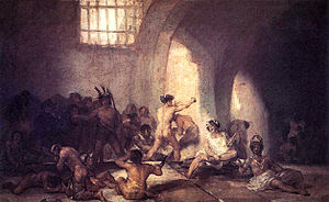 The Madhouse, by Francisco de Goya, 1812-1819....