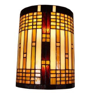 Amora Lighting Tiffany Style 2-light Geometric Wall Sconce ...