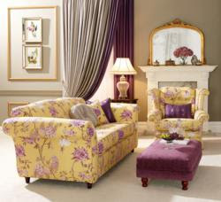 Re-upholstery in Royal Romance - Rich Gold Fabric