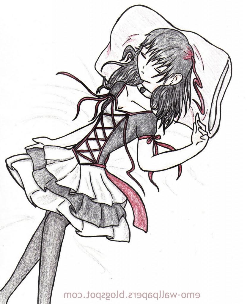 Sad Anime Girl Saying Goodbye
