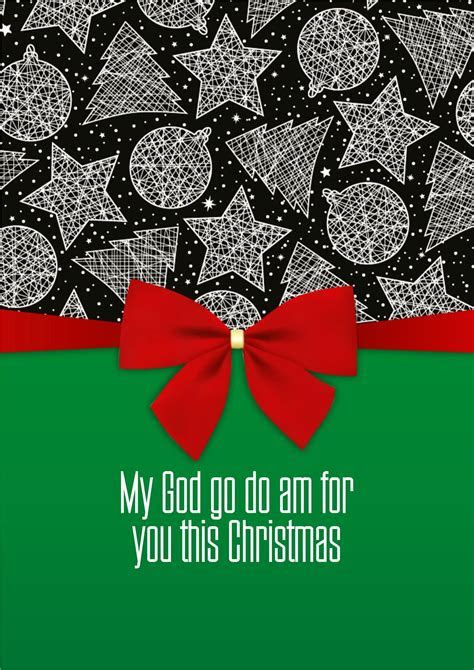My Ethnic Cards. My God go do am for you this Christmas