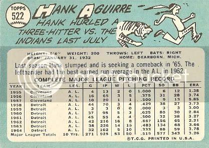 #522 Hank Aguirre (back)