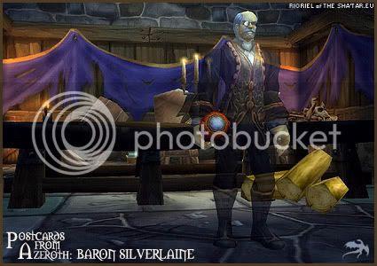 Postcards of Azeroth: Baron Silverlaine, by Rioriel of theshatar.eu